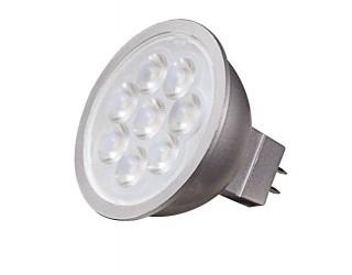 Satco S9496 - 6.5MR16/LED/40'/30K/12V - LED - 6.5 Watt - 12 Volt - MR16 - 40' Beam Spread - Silver Back - Dimmable - 2-Pin (GU5.3) - 3,000 Kelvin (Warm White)