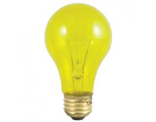 Bulbrite 105825 - 25A/TY - 25 Watt - 120 Volt - Incandescent - A19 - Medium (E26) - Transparent Yellow - 2,700 Kelvin