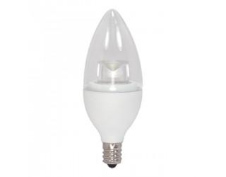 Satco S8951 - 4.5CTC/LED/2700K/E12/120V - LED - 4.5 Watt - 120 Volt - B11 - Candelabra (E12) - Dimmable - Clear - 2,700 Kelvin (Warm White)