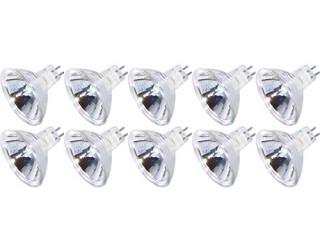 (10 Pack) KOR K25339 - 50MR16/12V/FL/EXN - Halogen - EXN - 50 Watt - 12 Volt - Flood - MR16 - 2-Pin (GU5.3) - Cover Glass - 2,850 Kelvin