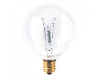 Bulbrite 311015 - 15G16CL3 - Incandescent - 15 Watt - 130 Volt - G16.5 - Candelabra (E12) - Clear Finish - 2,500 Kelvin