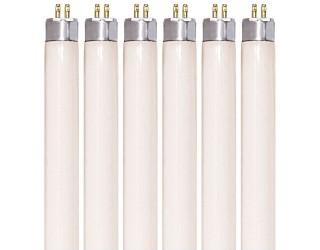 (6 Pack) KOR K25710 - F8T5/30K - Fluorescent Straight Tube - 12 Inches Long - 8 Watt - T5 - Mini 2-Pin (G5) - 3,000 Kelvin (Warm White)