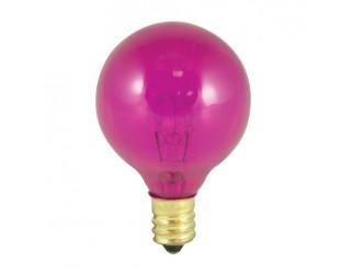 Bulbrite 305010 - 10G12P - 10 Watt - 130 Volt - Incandescent - G12 - Candelabra (E12) - Transparent Pink - 2,700 Kelvin