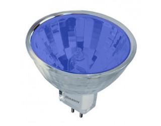 Bulbrite 637120 - FTD/B - Halogen - 20 Watt - 12 Volt - MR11 - Bi-Pin (GU4) - Blue Color Lensed