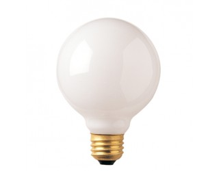 Bulbrite 340025 - 25G30WH - 25 Watt - 125 Volt - Incandescent - G30 - Medium (E26) - White - 2,600 Kelvin