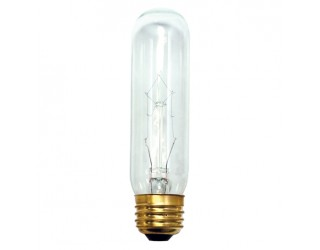 Bulbrite 704140 - 40T10C - Incandescent - 40 Watt - 130 Volt - T10 - Medium (E26) - Clear Finish - 2,700 Kelvin
