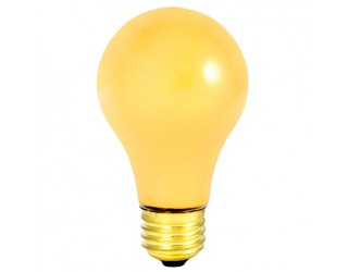 Bulbrite 103100 - 100A/YB - 100 Watt - 130 Volt - Incandescent - A19 - Medium (E26) - Yellow Bug - 2,300 Kelvin