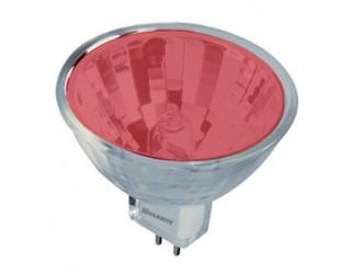 Bulbrite 637320 - FTD/R - Halogen - 20 Watt - 12 Volt - Halogen - MR11 - Bi-Pin (GU4) - Red Color Lensed