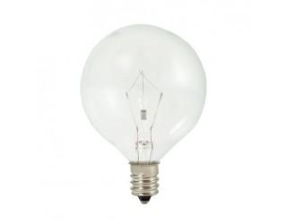 Bulbrite 461225 - KR25G16CL - 25 Watt - 120 Volt - Krypton - G16.5 - Candelabra (E12) - Clear - 2,600 Kelvin