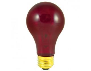 Bulbrite 105725 - 25A/TR - 25 Watt - 120 Volt - Incandescent - A19 - Medium (E26) - Transparent Red - 2,700 Kelvin