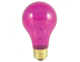 Bulbrite 105625 - 25A/TP - 25 Watt - 120 Volt - Incandescent - A19 - Medium (E26) - Transparent Pink - 2,700 Kelvin