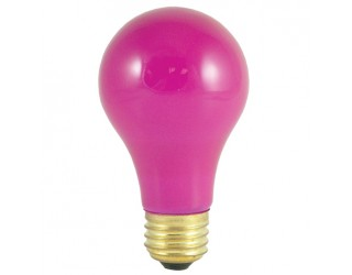 Bulbrite 106660 - 60A/CP - 60 Watt - 120 Volt - Incandescent - A19 - Medium (E26) - Ceramic Pink - 2,700 Kelvin
