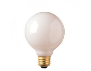 Bulbrite 330025 - 25G25WH3 - 25 Watt - 130 Volt - Incandescent - G25 - Medium (E26) - White - 2,600 Kelvin