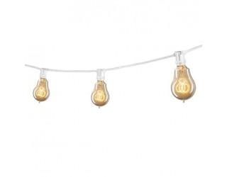 Bulbrite 810053 - STRING15/E12/WHITE-NOSA15KT - Outdoor Mini String Light w/Vintage Edison Bulbs - 25 Feet - 15 Candelabra (E12) Sockets - White - 1,800 Kelvin
