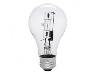 (2 Pack) Bulbrite 115042 - 43A19CL/ECO - 43 Watt - 120 Volt - Halogen - A19 - Medium (E26) - Clear - 2,900 Kelvin