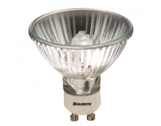 Bulbrite 620475 - 75MR20/GU10F - 75 Watt - 120 Volt - Halogen - MR20 - Twist and Lock (GU10) - Clear - 2,850 Kelvin