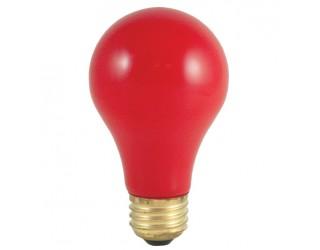 Bulbrite 106760 - 60A/CR - 60 Watt - 120 Volt - Incandescent - A19 - Medium (E26) - Ceramic Red - 2,700 Kelvin