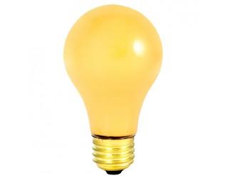 Bulbrite 103025 - 25A/YB - 25 Watt - 130 Volt - Incandescent - A19 - Medium (E26) - Yellow Bug