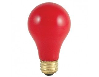Bulbrite 106740 - 40A/CR - 40 Watt - 120 Volt - Incandescent - A19 - Medium (E26) - Ceramic Red - 2,700 Kelvin