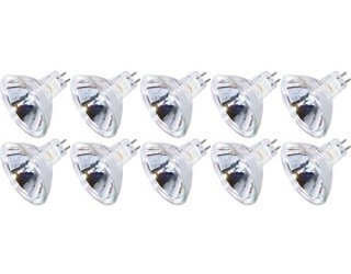 (10 Pack) KOR K25353 - 20MR16/12V/FL/BAB - Halogen - BAB - 20 Watt - 12 Volt - Flood - MR16 - 2-Pin (GU5.3) - Cover Glass - 2,850 Kelvin