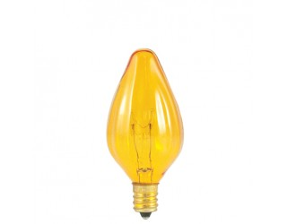 Bulbrite 420215 - 15F10A - 15 Watt - 130 Volt - Incandescent - F10 - Candelabra (E12) - Amber - 2,500 Kelvin