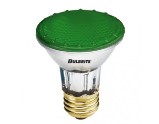 Bulbrite 683504 - H50PAR20G - 50 Watt - 120 Volt - Halogen - PAR20 - Medium (E26) - Green