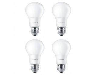 (4 Pack) Philips 466300 - 8.5A19/LED/827/ND ES120V - LED - 8.5 Watt - (60 Watt Equivalent) - 120 Volt - A19 - Medium (E26) - 2,700 Kelvin (Soft White)