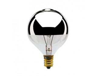 Bulbrite 712314 - 40G16HM - 40 Watt - 120 Volt - Incandescent - G16.5 - Candelabra (E12) - Clear Half Chrome - 2,700 Kelvin