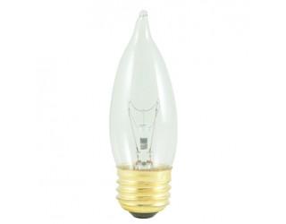 Bulbrite 498040 - 40EFC/2 - 40 Watt - 120 Volt - Incandescent - CA10 - Medium (E26) - Clear - 2,600 Kelvin