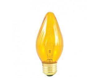 Bulbrite 421240 - 40F15A - 40 Watt - 130 Volt - Incandescent - F15 - Medium (E26) - Amber - 2,600 Kelvin
