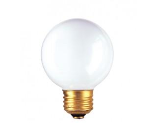 Bulbrite 320025 - 25G19WH - 25 Watt - 125 Volt - Incandescent - G19 - Medium (E26) - White - 2,600 Kelvin