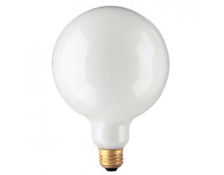 Bulbrite 350060 - 60G40WH - 60 Watt - 125 Volt - Incandescent - G40 - Medium (E26) - White - 2,600 Kelvin