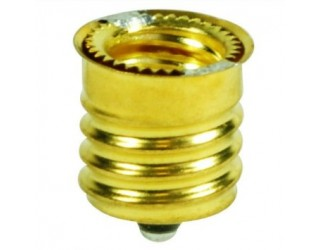 Satco 92-403 - Intermediate (E17) to Candelabra (E12) Light Bulb Socket Reducer / Adapter