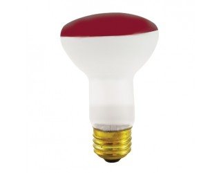 Bulbrite 227050 - 50R20R - 50 Watt - 120 Volt - Incandescent - R20 - Medium (E26) - Red - 2,700 Kelvin