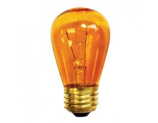 Bulbrite 701211 - 11S14TA - Incandescent - 11 Watt - 130 Volt - S14 - Medium (E26) - Dimmable - Sign Bulb - Transparent Amber