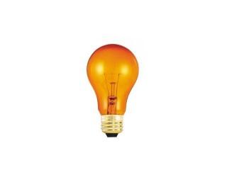Bulbrite 105525 - 25A/TO - 25 Watt - 120 Volt - Incandescent - A19 - Medium (E26) - Transparent Orange - 2,700 Kelvin