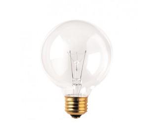 Bulbrite 331025 - 25G25CL3 - 25 Watt - 130 Volt - Incandescent - G25 - Medium (E26) - Clear - 2,600 Kelvin