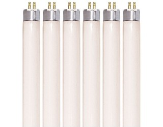 (6 Pack) KOR K25681 - F13T5/30K - Fluorescent Straight Tube - 21 Inches Long - 13 Watt - T5 - Mini 2-Pin (G5) - 3,000 Kelvin (Warm White)
