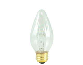 Bulbrite 421140 - 40F15CL - 40 Watt - 130 Volt - Incandescent - F15 - Medium (E26) - Clear - 2,600 Kelvin