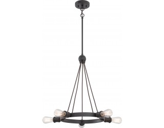 Nuvo Lighting 60/5725 - Incandescent - Indoor Ceiling 5-Light Chandelier Fixture - Paxton Collection - Traditional Style - Aged Bronze Finish - Includes Edison Type Vintage Bulbs - Medium (E26) - A19 - 40 Watt