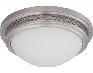 Nuvo Lighting 62/534 - LED - Indoor Ceiling Flush Mount Fixture - Corry Collection - Transitional Style - Brushed Nickel Finish - Frosted Glass - Includes LED Warm Dim Panel - 16 Watt - 2,700 - 2,200 Kelvin