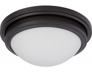 Nuvo Lighting 62/535 - LED - Indoor Ceiling Flush Mount Fixture - Corry Collection - Transitional Style - Aged Bronze Finish - Frosted Glass - Includes LED Warm Dim Panel - 16 Watt - 2,700 - 2,200 Kelvin