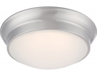 Nuvo Lighting 62/605 - LED - Indoor Ceiling Flush Mount Fixture - Conrad Collection - Transitional Style - Brushed Nickel Finish - Frosted Glass - Includes LED Warm Dim Panel - 16 Watt - 2,700 - 2,200 Kelvin