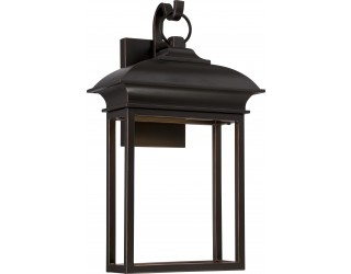 Nuvo Lighting 62/622 - LED - Outdoor Wall Fixture - Townsend Collection - Transitional Style - Mahogany Bronze Finish - Includes Rectangular LED Module - 12.8 Watt - 2,700 Kelvin