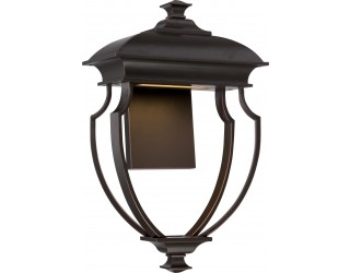 Nuvo Lighting 62/623 - LED - Outdoor Wall Fixture - Taft Collection - Transitional Style - Mahogany Bronze Finish - Includes Rectangular LED Module - 12.8 Watt - 2,700 Kelvin