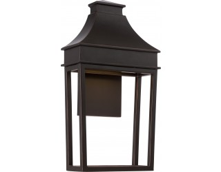 Nuvo Lighting 62/625 - LED - Outdoor Wall Fixture - Moore Collection - Transitional Style - Mahogany Bronze Finish - Includes Rectangular LED Module - 12.8 Watt - 2,700 Kelvin
