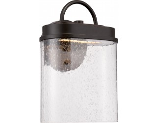 Nuvo Lighting 62/626 - LED - Outdoor Wall Fixture - Hunt Collection - Transitional Style - Mahogany Bronze Finish - Clear Seeded Glass - Includes Rectangular LED Module - 12.8 Watt - 2,700 Kelvin