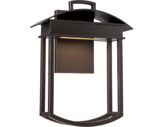 Nuvo Lighting 62/627 - LED - Outdoor Wall Fixture - Garner Collection - Transitional Style - Mahogany Bronze Finish - Includes Rectangular LED Module - 12.8 Watt - 2,700 Kelvin