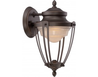Nuvo Lighting 62/691 - LED - Outdoor Wall Fixture - Cole Collection - Transitional Style - Mahogany Bronze Finish - Frosted Glass - Includes LED Panel - 17 Watt - 2,700 Kelvin
