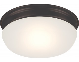 Nuvo Lighting 62/703 - LED - Indoor Ceiling Flush Mount Fixture - Trevor Collection - Transitional Style - Aged Bronze Finish - Frosted Glass - Includes LED Warm Dim Panel - 16 Watt - 2,700 - 2,200 Kelvin